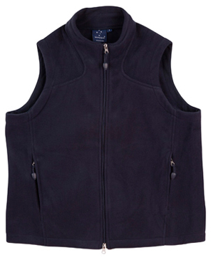 bonded polar fleece vest